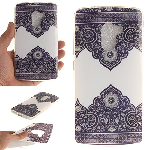 Anlike TPU Schutzhülle für Lenovo A7010, Handy Hülle / Handytasche / Silikon Hülle Case / Schlank Flexibel Handy Tasche Cover für Lenovo A7010 - Diagonale Blume