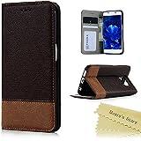 Samsung Galaxy S6 Edge Funda de PU Cuero - Mavis's Diary® Carcasa Con [Flip Case Cover][Cierre Magnético] [Función de Soporte] [Billetera con Tapa para Tarjetas] - Color de Marrón oscuro(No para S6)