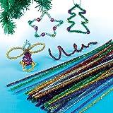 Baker Ross Decorazioni natalizie con scovolini (confezione da 72)