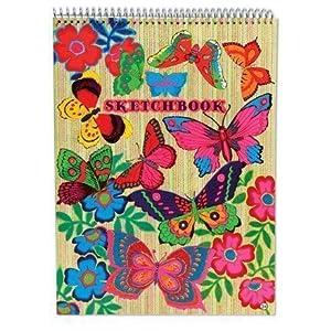 eeBoo Sketch Book-Bloc de Dibujo Fluorescente, Mariposa