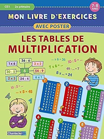 Mon livre d'exercices avec poster : Les tables de multiplication