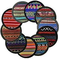 Sottobicchieri, Ambielly Vintage Ethnic Floral Design Placemat Value Pack, 10pcs
