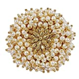 #8: Om Jewells Gold Plated Beautiful Artificial Pearl Adjustable Polki Ring for Women FR1000932