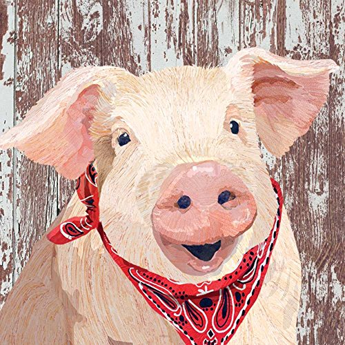 Paperproducts Design 1252400 Charlotte Beverage Napkins Papierserviette Papier rot/pink