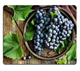 General BAIZUO Fresh Grapes Vine Leaves Fruit Mouse Pads Customized Made to Order Support Ready High Quality Eco Friendly Cloth with Neoprene Rubber Mouse Pad Desktop Mousepad Laptop Mousepads Comfort