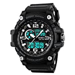 Military Multifunctional Waterproof LED Men's Sports Watch Men's Watches at amazon