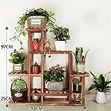 KELE Basamento di fiore di legno solido,Corrosione,Combinazione,All'aperto,Terra,Coperta,Floreale,Scala,Carnoso,Portavasi-B