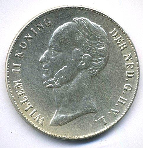 Münze 1844 Niederlande / Holland - 2½ Gulden - Wilhelm II (1840-1849) REPLICA