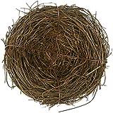 2pcs de ratán natural nido de pájaro primavera decoración Props Patio jardín casa
