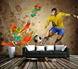 Yosot 3D Zimmer Tapete Custom Tapete Wandbild Fußball Graffiti Foto Sofa Tv Hintergrund Wand Schlafzimmer Wandbild-450cmx300cm