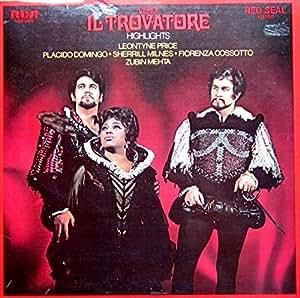 Verdi: Il Trovatore (Highlights) [Vinyl LP] [Schallplatte]