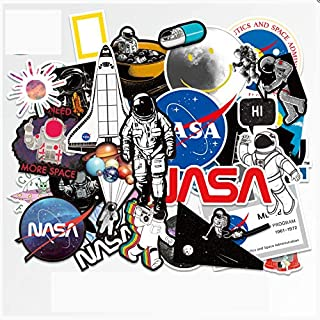 ZHANG 39 Astronauten Cartoon Persönlichkeit Aufkleber Universum NASA Raum Koffer Koffer wasserdichte Aufkleber