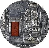 Power Coin KARNAK Egyptian Temple Jaspis 1 Kg Kilo Silber Münze 10000 Franken Chad 2018