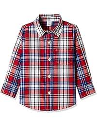 GAP Boys' Checkered Regular Fit Cotton Shirt