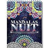 Coloriage Adulte Mandala de Nuit Anti-Stress: Le Premier Cahier de Coloriage Mandala avec Papier Noir Artiste et Reliure Spirale par Colorya...