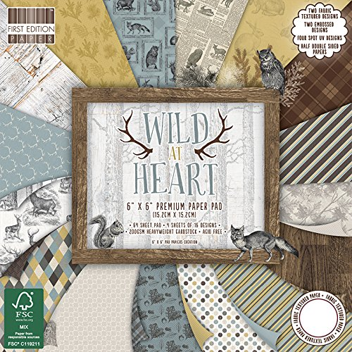 first-edition-wild-at-heart-fsc-paper-pad-paper-multi-colour-6-x-6-inch
