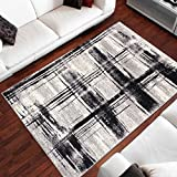 Tapis Moderne Design Planches Gris Differentes Dimensions (160 x 220 cm)