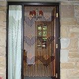 JVL Tuscany Hanging Wooden Beaded Door Curtain Screen, Arrows - 90 x 180 cm