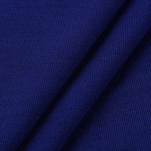 Camicia Donna Elegante con Mezza Manica Orlo Irregolare Maglietta della Camicetta Casuale Camicia T-Shirt Bluse Blu
