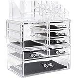 Display4top Scatola Cosmetici Trucchi e Makeup Cosmetic Organizer Acrilico Organizzatore (7 cassettiere Traparente)