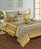 #4: Swayam Shades N More Printed Cotton Double Duvet Cover - Beige (TSR02-1405)
