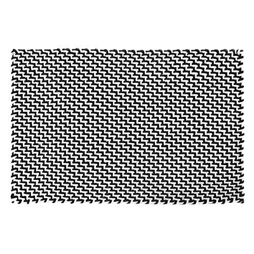 Pad - Fußmatte - Fußabtreter - Pool - Indoor/Outdoor - Black-White/schwarz-weiß - 52 x 72 cm