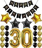 KALMI Alles Gute zum Geburtstag Dekoration Banner (stoff) Mit Bunten Gewebe Pom Pom Ball (30)