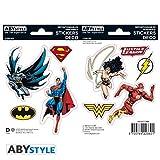 DC COMICS - Stickers - 16x11cm/ 2 planches - Justice League