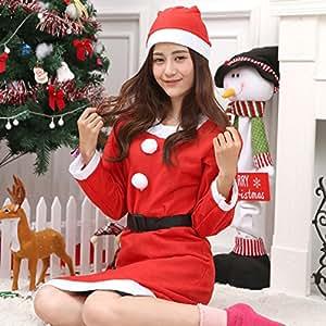 Festa di Natale COS Abbigliamento donna accessori eseguite decorazioni di Natale di tessuto non tessuto adulti manica lunga abito ornamento