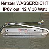 Einbau Netzteil Trafo wasserdicht IP67 12V 2,5A 30 Watt 202x35x22mm