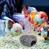 1 UNID Tanque de Peces de Acuario Secenery Decoración Fish Hideaway Ornamento Fish Breeding Cave Hole Stone Size S