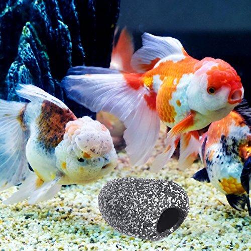 1PC Aquarium Fischerei Secenery Dekoration Fisch Hideaway Ornament Fischzucht Höhle Loch Stein Größe S (Hideaway Ornament)