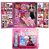 GRAPPLE DEALS Fashion Stylish Girl Doll With Trendy Dresses And Cool Accessories Girls.(Multicolor)