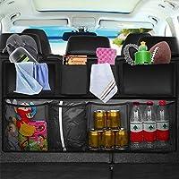 TOOGOO Bolsa de almacenamiento trasera de asiento trasero del coche Bolsillo red colgante multiple Organizador de bolsa de tronco Suministros Accesorios de interior ordenando auto estiba