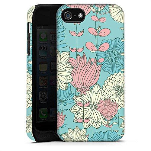 Apple iPhone X Silikon Hülle Case Schutzhülle Blumen Muster Bunt Tough Case matt