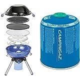 Campingaz Party Grill 400 CV für den Betrieb mit Einer Ventilgaskartusche CV300+ oder CV470+ (Piezozündung)