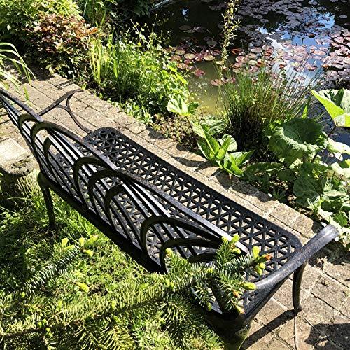 Lazy Susan – APRIL Gartenbank aus Aluminium, Antik Bronze - 9