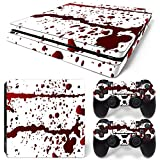 Sony PS4 Playstation 4 Slim Skin Design Foils Aufkleber Schutzfolie Set - Blood Motiv