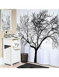 Baño Ducha con patrón de árbol (180cm x 180cm / 71 x 71 pulgadas)