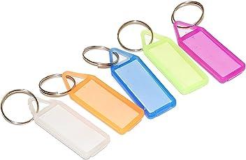50 Pcs Assorted Key Tag Label Multipurpose Keychain