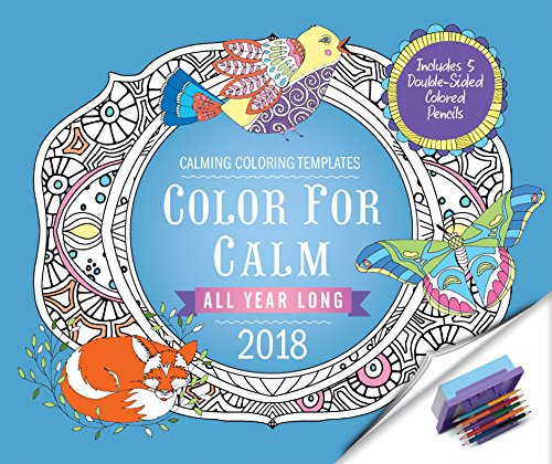 Kindle e-Books Collections Color for Calm All Year Long 2018: Box Calendar with Colored Pencils attached to Base (Calendars 2018)