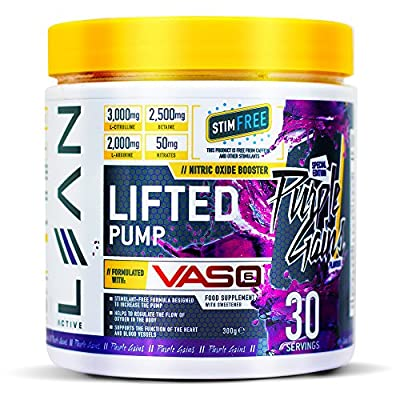 Lean Active Lifted Pump Nitric Oxide Workout Performance Booster, Purple Gains by Lean Active
