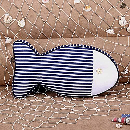 kh Das Hause Tuch Möbel Kreative mittelmeer Stoff - Polster Anime - Kissen, Kissen 44 * 23 * 7cm/Feine Blaue Streifen -