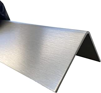 Edelstahl Kantenschutz 2000mm 35x10 mm K240 geschliffen V2A 0,8mm stark Kantenschutzblech Kantenschutz,kreativ bauen 200cm Eckschiene L-Profil Schenkel 3,5x1cm