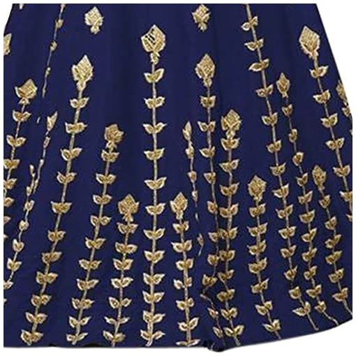 8e233921ca Siddeshwary Fab Women s Navy Blue Taffeta Silk Embroidered Gown for Women  (G 04 Blue Priya Gown)