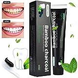Aktivkohle Zahnpasta-Natürliche Zahnaufhellung und Zahnreinigung -Bambuskohle Schwarze Zahnpasta-Weisse Zähne-Bamboo Aktivkohle Zahncreme Weiß- Whitening Zahnpasta-Für Empfindliche Zähne
