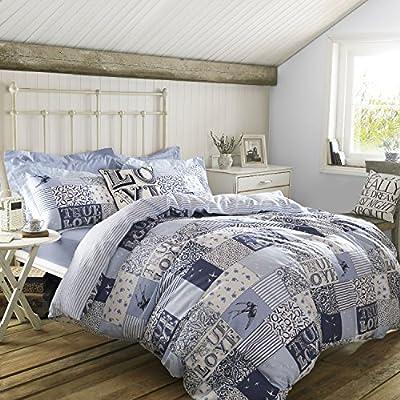 Blue Patchwork Duvet Cover Bedding by designer Emma Bridgewater - low-cost UK light shop.