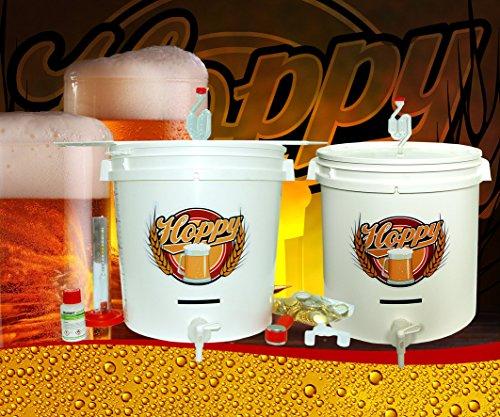 Hoppy Kit Fermentazione Per Fare Birra A Casa Con Due Fermentatori Completi