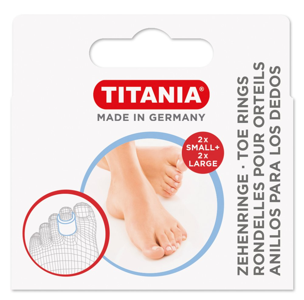 Titania dita anelli, 2piccoli Plus 2grandi, Box con foro euro, 1er Pack (1X 8G)