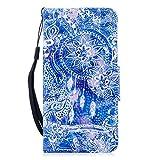 Coopay Mandala Attrape Reve Bleu Motif Pochette Coque Etui pour iPhone 7/ iPhone 8...